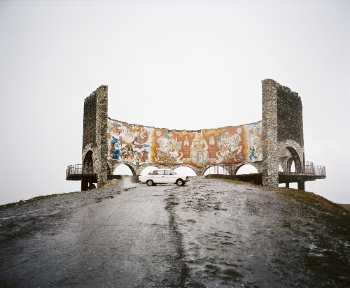 Rob Hornstra.Georgian Military Highway, Gudauri, Georgia, 2013.